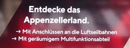 """Ausschnitt auf dem Werbeplakat """"Meine Wanderlust"""" der Appenzeller Bahnen"""